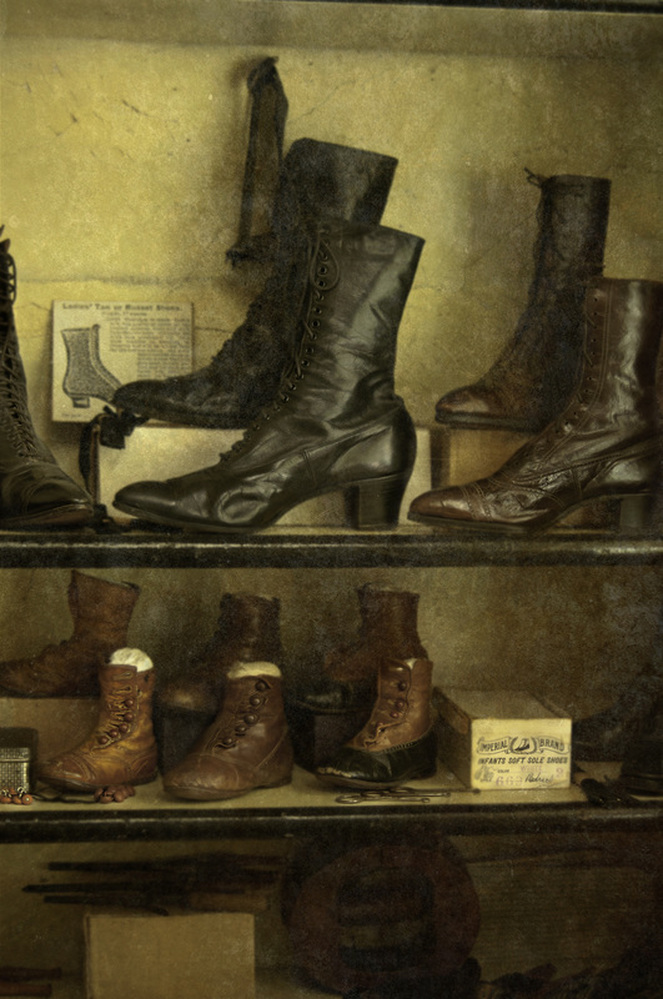 antique shoes and boots